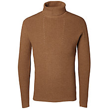Buy Selected Homme Felton Roll Neck, Camel Online at johnlewis.com
