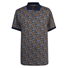 Buy Pretty Green Stretford Print Polo Shirt, Navy Online at johnlewis.com