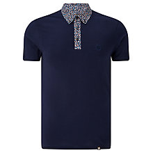 Buy Pretty Green Reilly Print Polo Shirt, Navy Online at johnlewis.com