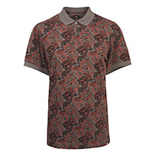 Buy Pretty Green Turner Paisley Polo Shirt, Charcoal Online at johnlewis.com