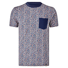 Buy Pretty Green Reilly Print Pocket T-Shirt, Multi Online at johnlewis.com