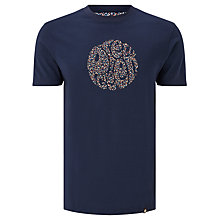 Buy Pretty Green Stretford Circle Logo T-Shirt, Navy Online at johnlewis.com