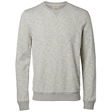 Buy Selected Homme Wilhelm Crew Neck Sweatshirt, Light Grey Online at johnlewis.com