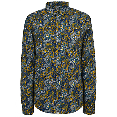 Image of Pretty Green Stretford Print Long Sleeve Shirt