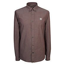 Buy Pretty Green Oldbry Shirt, Burgundy Online at johnlewis.com