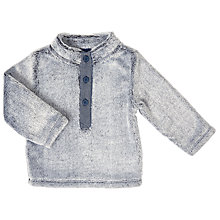 Buy John Lewis Baby Fluffy Fleece Top, Grey Online at johnlewis.com