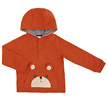 Buy John Lewis Baby Bear Face Hoodie, Brown Online at johnlewis.com