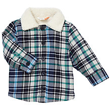 Buy John Lewis Baby Check Lumberjack Jacket, Blue/Multi Online at johnlewis.com