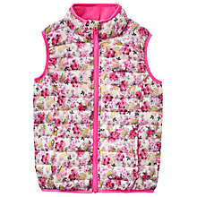 Buy Little Joule Girls' Ditsy Floral Gilet, Pink/Cream Online at johnlewis.com