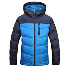 Buy Skogstad Boys' Down Quilted Jacket, Primary Blue Online at johnlewis.com