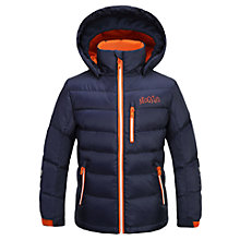 Buy Skogstad Boys' Down Quilted Jacket, Peacoat Online at johnlewis.com
