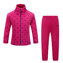 Buy Skogstad Girls' Fongen Micro Fleece Jacket and Trouser Set, Sharp Pink Online at johnlewis.com