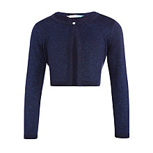 Buy John Lewis Girls' Sparkly Shrug Cardigan, Insignia Blue Online at johnlewis.com