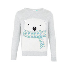 Buy John Lewis Girls' Polar Bear Jumper, Grey Online at johnlewis.com
