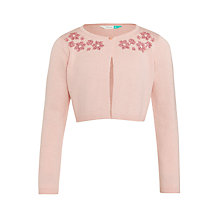 Buy John Lewis Girls' Sequin Shrug, Pink Online at johnlewis.com