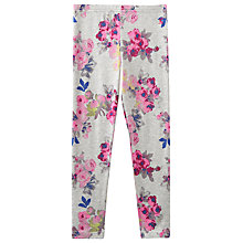 Buy Little Joule Girls' Floral Leggings, Grey Online at johnlewis.com