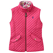 Buy Little Joule Girls' Quilted Gilet, Pink Online at johnlewis.com