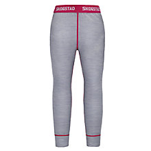 Buy Skogstad Children's Merino Wool Base Layer Trousers, Grey Melange Online at johnlewis.com