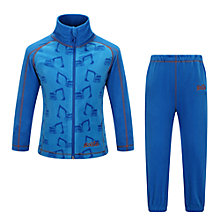 Buy Skogstad Boys' Tronfjellet Microfleece Jacket and Trouser Set, Peacoat/Turquoise Online at johnlewis.com