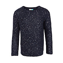 Buy John Lewis Girls' Sequin Jumper, Insignia Blue Online at johnlewis.com