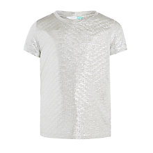 Buy John Lewis Girls' Metallic T-Shirt Online at johnlewis.com