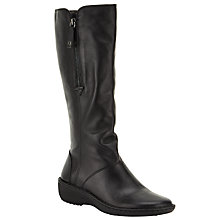 Buy John Lewis Designed for Comfort Rook Calf Boots, Black Online at johnlewis.com