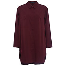 Buy French Connection Sammy Shirting Oversized Shirt, Biker Berry Online at johnlewis.com