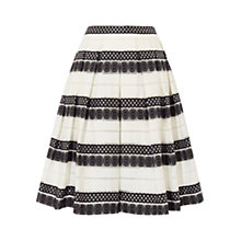Buy Karen Millen Devore Stripe Skirt, Black and White Online at johnlewis.com