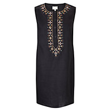 Buy East Avani Embellished Tunic Top, Black Online at johnlewis.com