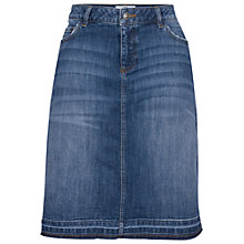 Buy Fat Face Danni Denim Frayed Skirt, Blue Online at johnlewis.com