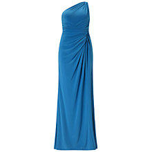 Buy Adrianna Papell One Shoulder Jersey Gown, Cobalt Online at johnlewis.com