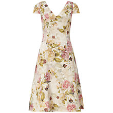 Buy Adrianna Papell Matelasse Fit And Flare Cocktail Dress, English Rose Online at johnlewis.com