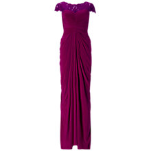 Buy Adrianna Papell Lace And Venechia Jersey Dress, Cerise Online at johnlewis.com