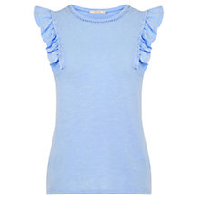 Buy Oasis Ruffle Slub Cotton Shell Top Online at johnlewis.com