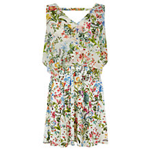 Buy Oasis Botanical Chiffon Overlay Dress, Mid Neutral Online at johnlewis.com