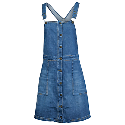 Fat Face Dungarees Dress, Denim