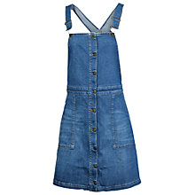 Buy Fat Face Dungarees Dress, Denim Online at johnlewis.com