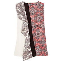 Buy Oasis Sintra Tile Patch Print Vest Top, Multi Online at johnlewis.com