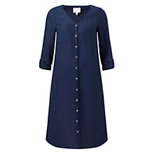 Buy East Linen Pocket Detail Dress, Navy Online at johnlewis.com