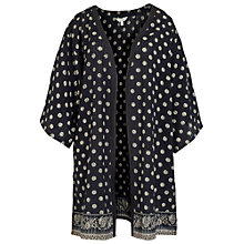 Buy Fat Face Trinidad Kimono, Black Online at johnlewis.com
