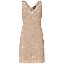Buy Adrianna Papell Sleeveless Beaded Godet Cocktail Dress, Champagne Online at johnlewis.com