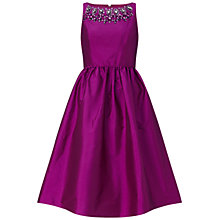 Buy Adrianna Papell Sleeveless Beaded Taffeta Party Dress, Berry Online at johnlewis.com