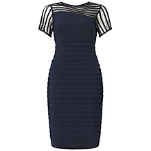 Buy Adrianna Papell Soutache Illusion Wave Band Sheath Dress, Eclipse Online at johnlewis.com