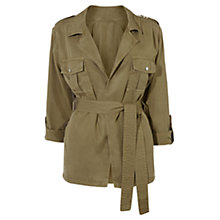 Buy Karen Millen Safari Military Jacket, Khaki Online at johnlewis.com