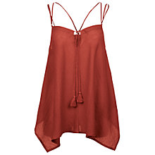 Buy Fat Face Hankey Hem Cami, Firebrick Online at johnlewis.com