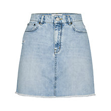 Buy Fat Face Denim Fringed Mini Skirt, Light Wash Online at johnlewis.com