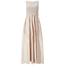 Buy Aidan Mattox Cap Sleeve Beaded Popover Gown, Light Pink Online at johnlewis.com
