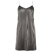 Buy Oasis Plisse Cami Dress, Mid Grey Online at johnlewis.com