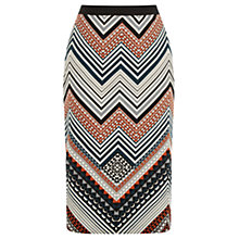 Buy Oasis Saffron Stripe Pencil Skirt, Multi Online at johnlewis.com