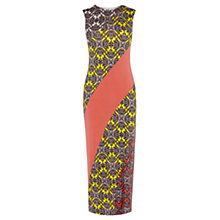 Buy Oasis Sintra Print Sheath Midi Dress, Multi Online at johnlewis.com